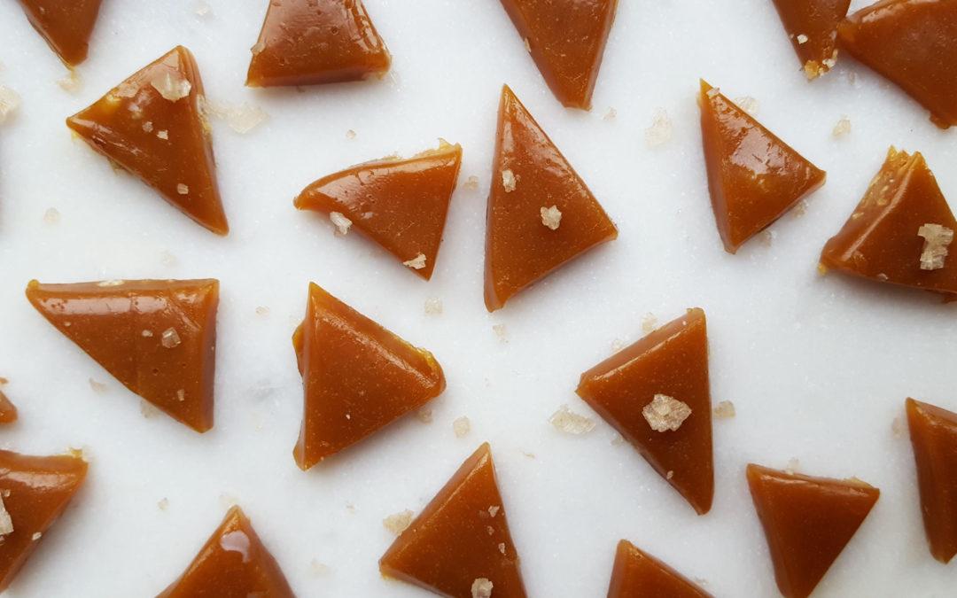 Smoked Sea Salt Caramels