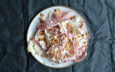 Salad Dail Chwerw + Llaeth Enwyn