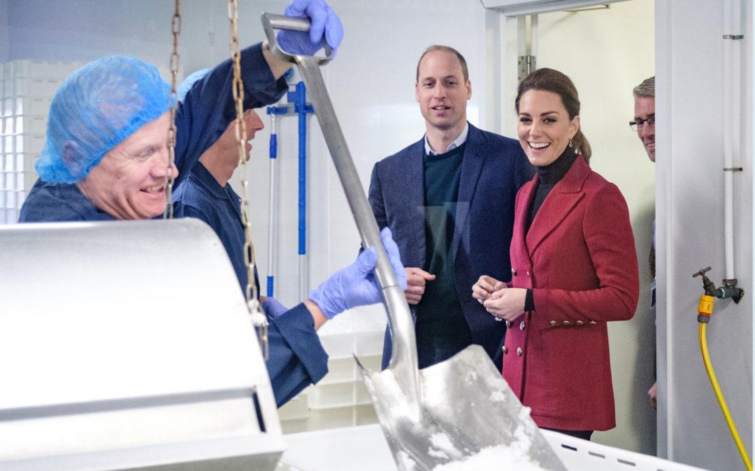 HRH The Duke and Duchess of Cambridge visit Halen Môn