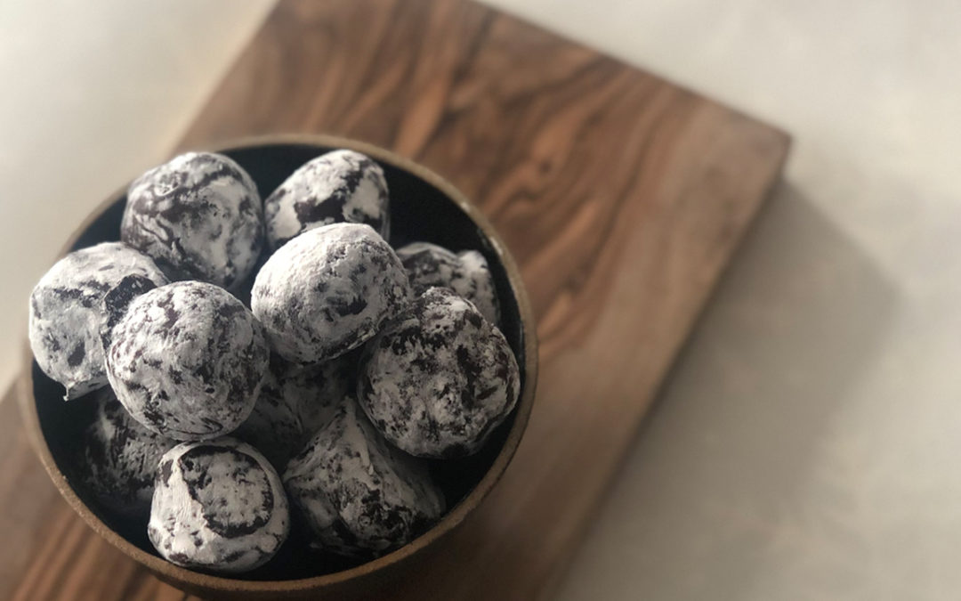 Pump Street chocolate, sloe gin + sea salt truffles